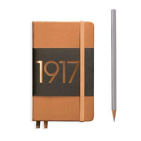 Notizbuch Pocket (A6), Hardcover, 187 nummerierte Seiten, Kupfer, Liniert
