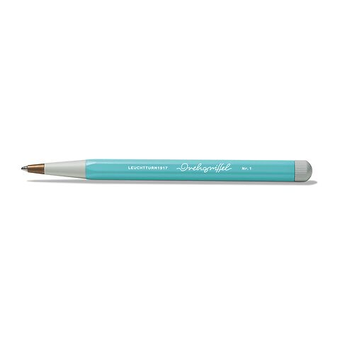 Drehgriffel Nr. 1, Aquamarine - Kugelschreiber mit blauer Mine