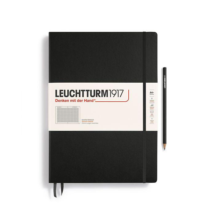 Notizbuch Master Classic (A4+), Hardcover, 233 nummerierte Seiten, Schwarz, Kariert