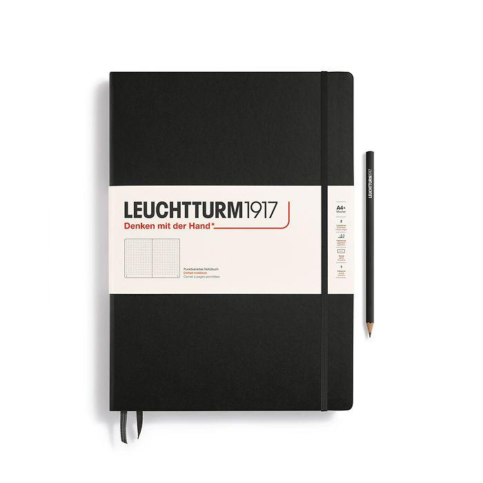 Notizbuch Master Classic (A4+), Hardcover, 233 nummerierte Seiten, Schwarz, Dotted