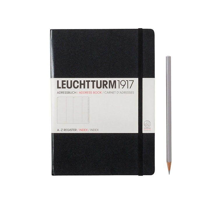 Adressbuch Medium (A5), Hardcover, Schwarz