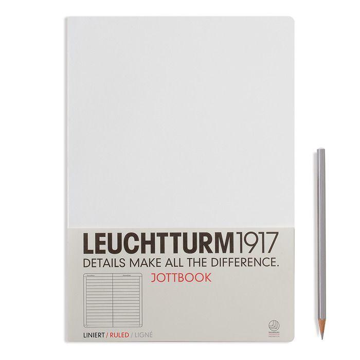 Jottbook Master (A4), 60 nummerierte Seiten, 16 Blatt perforiert, Weiß, Liniert