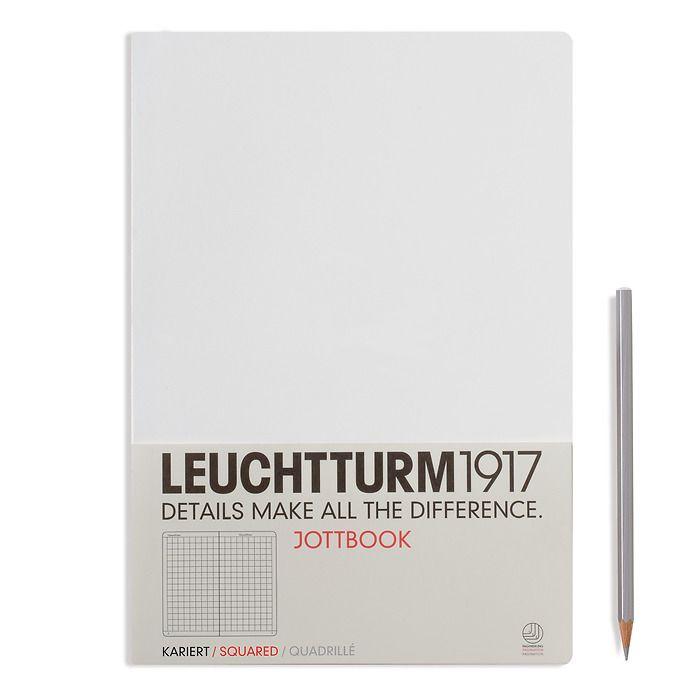 Jottbook Master (A4), 60 nummerierte Seiten, 16 Blatt perforiert, Weiß, Kariert