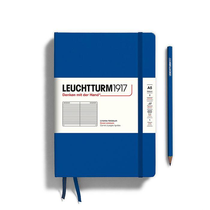 Notizbuch Medium (A5), Hardcover, 251 nummerierte Seiten, Königsblau, Liniert