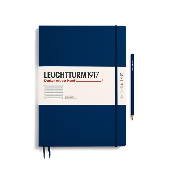 Notizbuch Master Slim (A4+), Hardcover, 123 nummerierte Seiten, Marine, Liniert