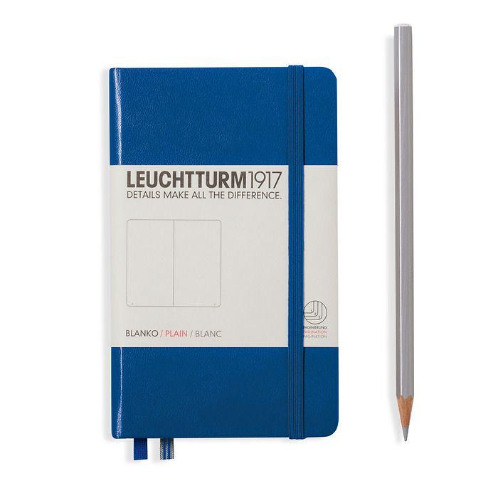 Notizbuch Pocket (A6), Hardcover, 187 nummerierte Seiten, Königsblau, Blanko