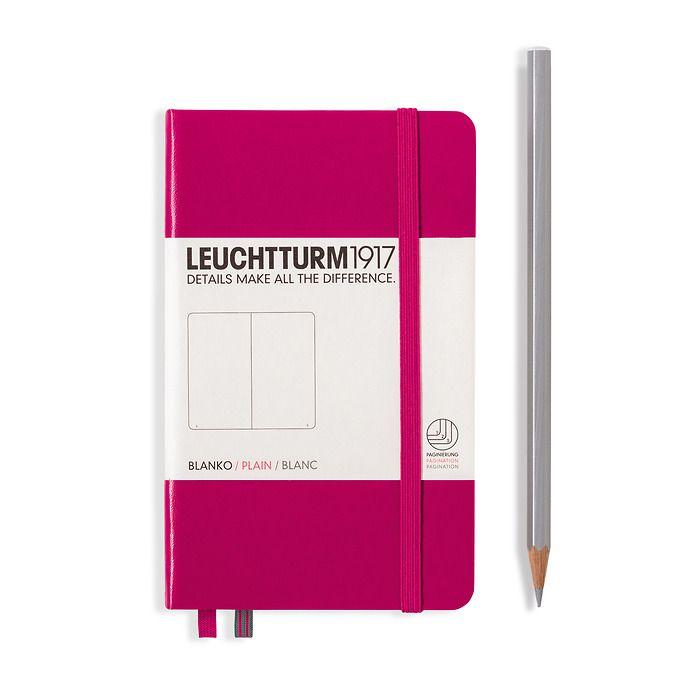 Notizbuch Pocket (A6), Hardcover, 187 nummerierte Seiten, Beere, Blanko