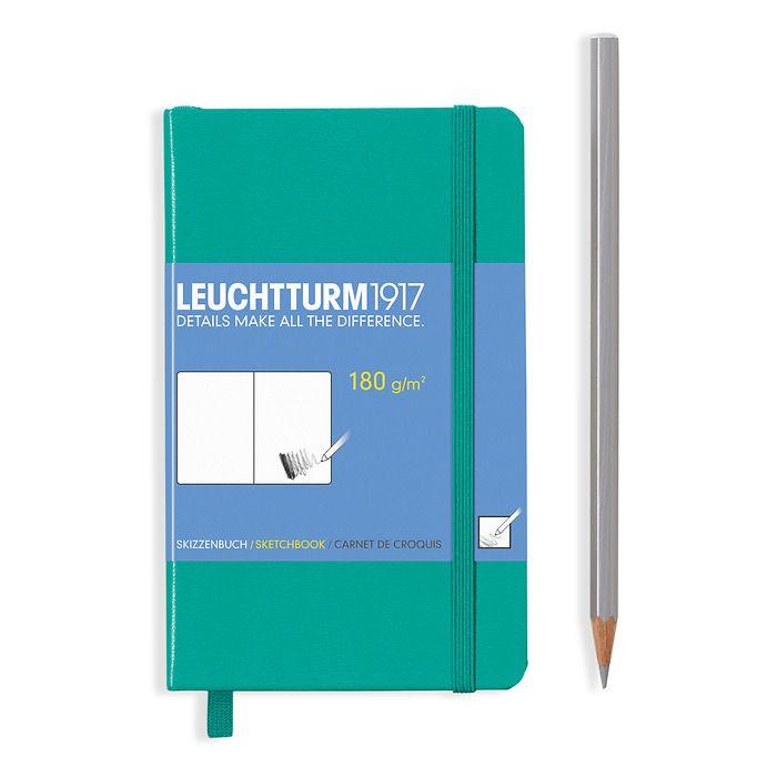 Skizzenbuch Pocket (A6), Hardcover, 96 Seiten (180 g/qm), Smaragd