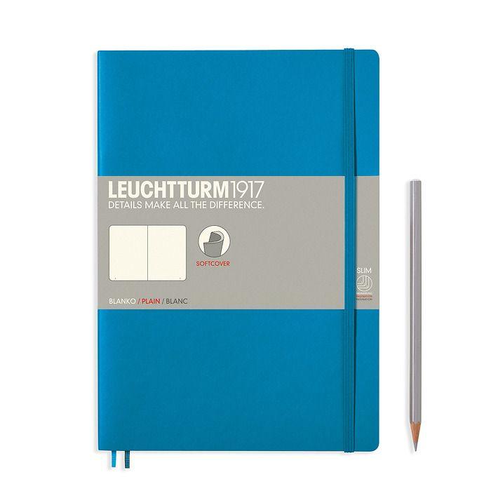 Notizbuch Composition (B5), Softcover, 123 nummerierte Seiten, Azur, Blanko