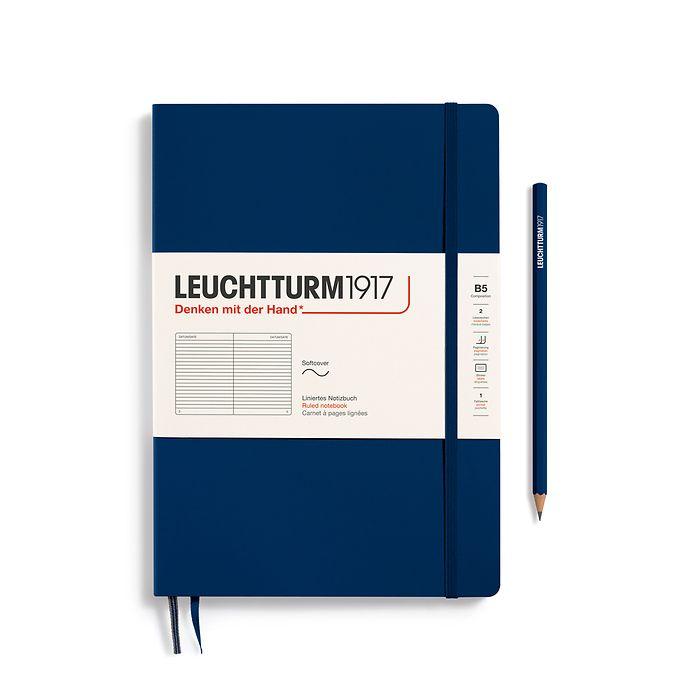 Notizbuch Composition (B5), Softcover, 123 nummerierte Seiten, Marine, Liniert