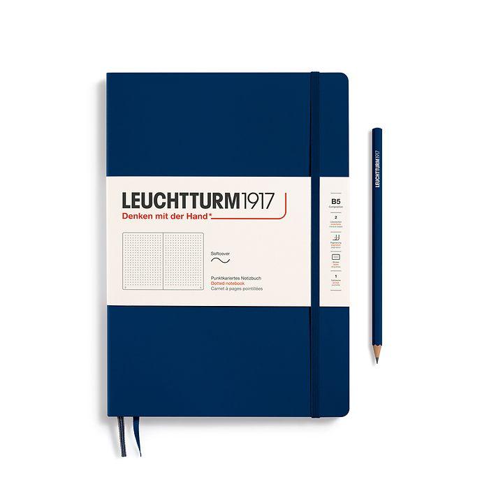 Notizbuch Composition (B5), Softcover, 123 nummerierte Seiten, Marine, Dotted