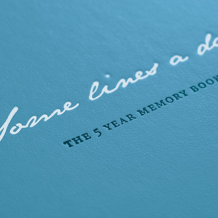 Some lines a day, 5-Jahres-Buch Medium (A5), Nordic Blue