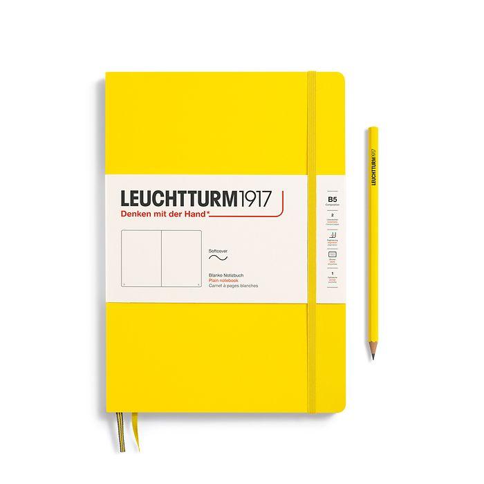 Notizbuch Composition (B5), Softcover, 123 nummerierte Seiten, Zitrone, Blanko