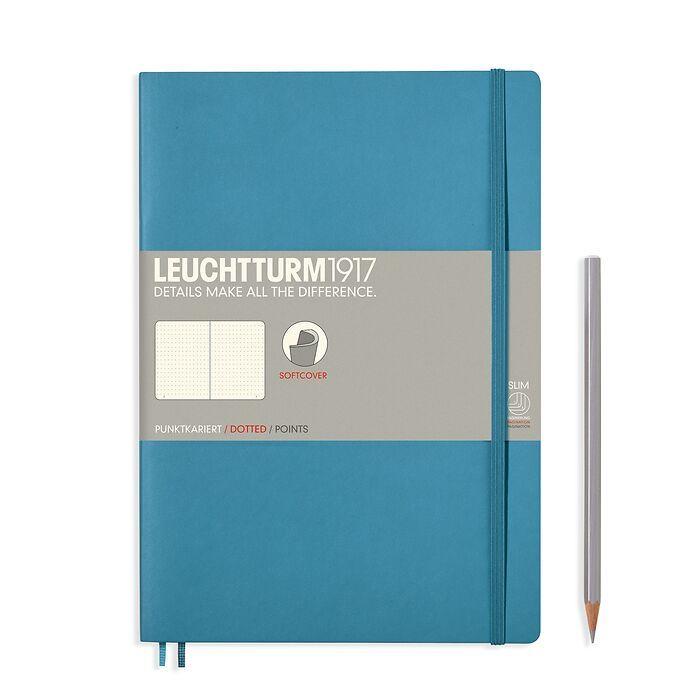 Notizbuch Composition (B5), Softcover, 123 nummerierte Seiten, Nordic Blue, Dotted