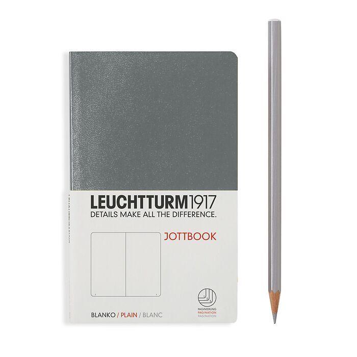 Jottbook Pocket (A6), 60 nummerierte Seiten, 16 Blatt perforiert, Anthrazit, Blanko