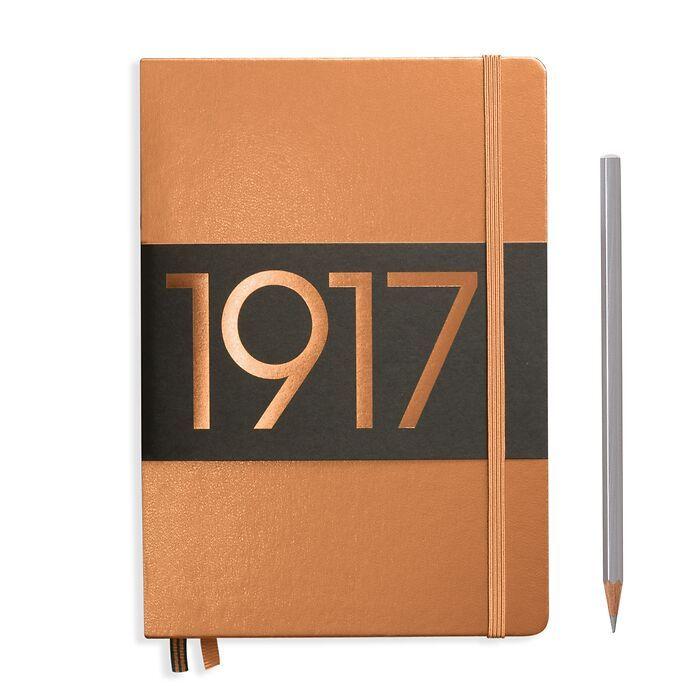Notizbuch Medium (A5), Hardcover, 251 nummerierte Seiten, Kupfer, Liniert