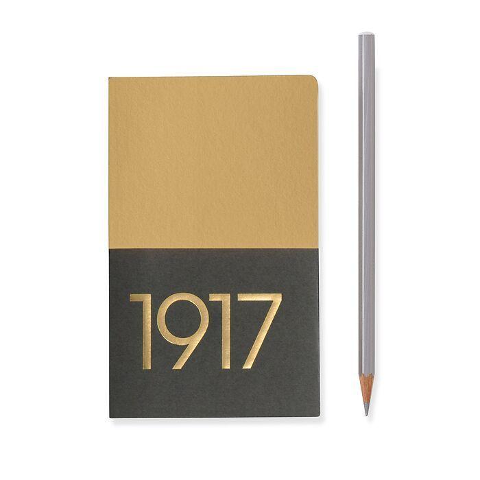 Jottbook Pocket (A6), 60 nummerierte Seiten, Blanko, Gold im Doppelpack