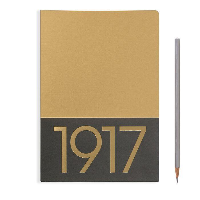 Jottbook Medium (A5), 60 nummerierte Seiten, Blanko, Gold, im Doppelpack