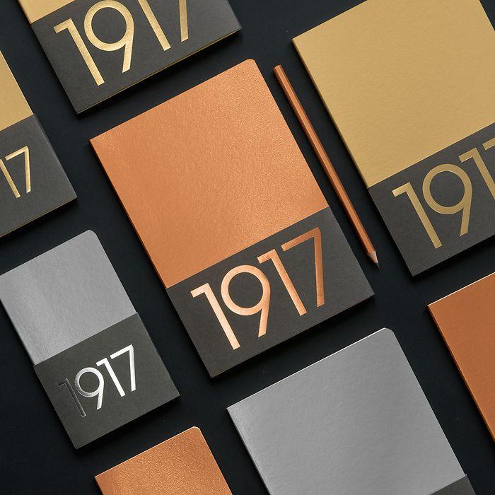 Jottbook Medium (A5), 60 nummerierte Seiten, Liniert, Silber, im Doppelpack