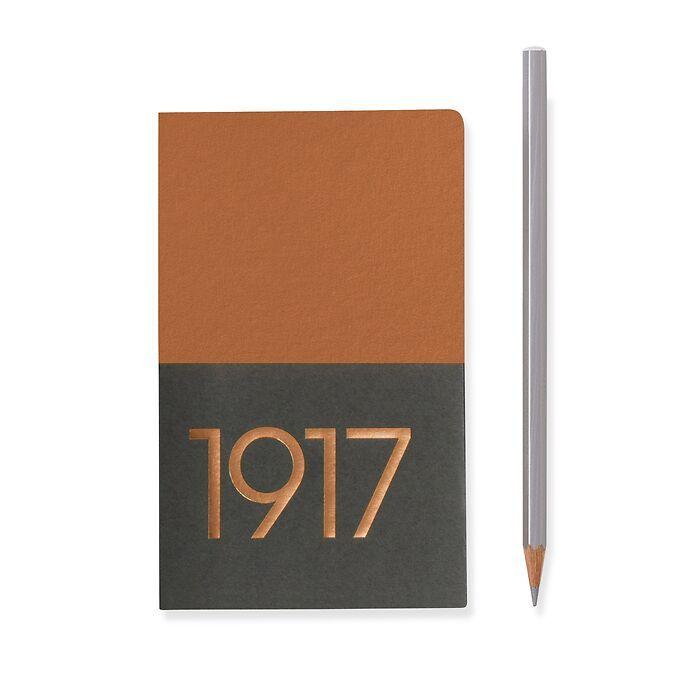 Jottbook Pocket (A6), 60 nummerierte Seiten, Blanko, Kupfer, im Doppelpack