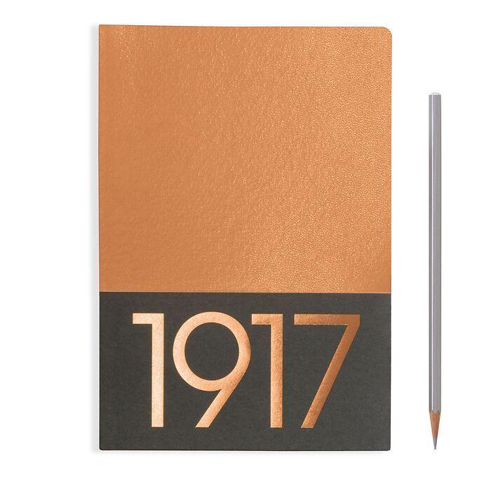 Jottbook Medium (A5), 60 nummerierte Seiten, Blanko, Kupfer, im Doppelpack