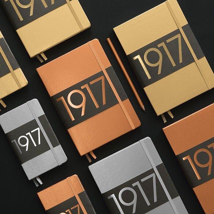 Notizbuch Master Slim (A4+), Hardcover, 123 nummerierte Seiten, Kupfer, Blanko