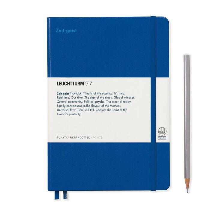 Notizbuch Medium (A5), Hardcover, 251 num. S. Königsblau, Dotted - Leuchtkraft (Zeitgeist)