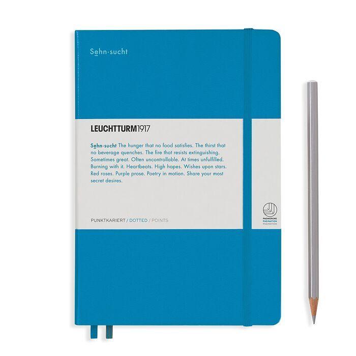 Notizbuch Medium (A5), Hardcover, 251 num. S. Azur, Dotted - Leuchtkraft (Sehnsucht)