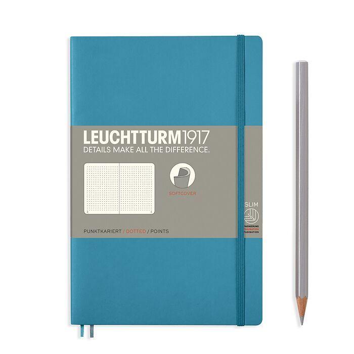 Notizbuch Paperback (B6+), Softcover, 123 nummerierte Seiten, Nordic Blue, Dotted