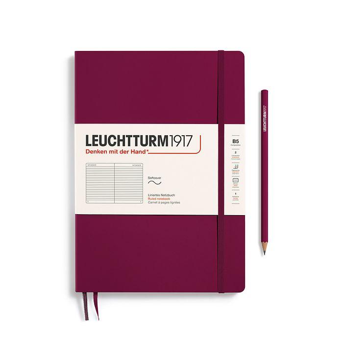 Notizbuch Composition (B5), Softcover, 123 nummerierte Seiten, Port Red, Liniert