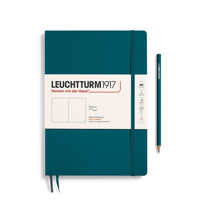 Notizbuch Composition (B5), Softcover, 123 nummerierte Seiten, Pacific Green, Blanko