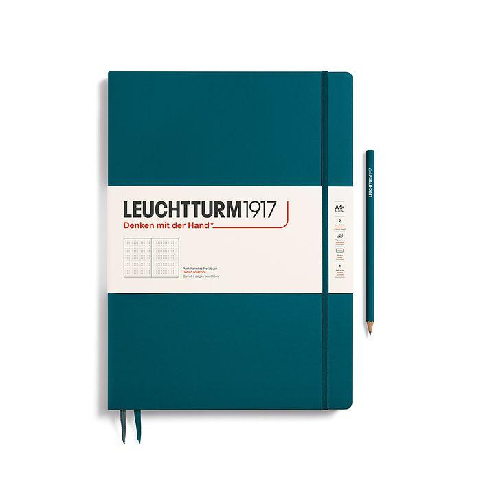 Notizbuch Master Slim (A4+), Hardcover, 123 nummerierte Seiten, Pacific Green, Dotted