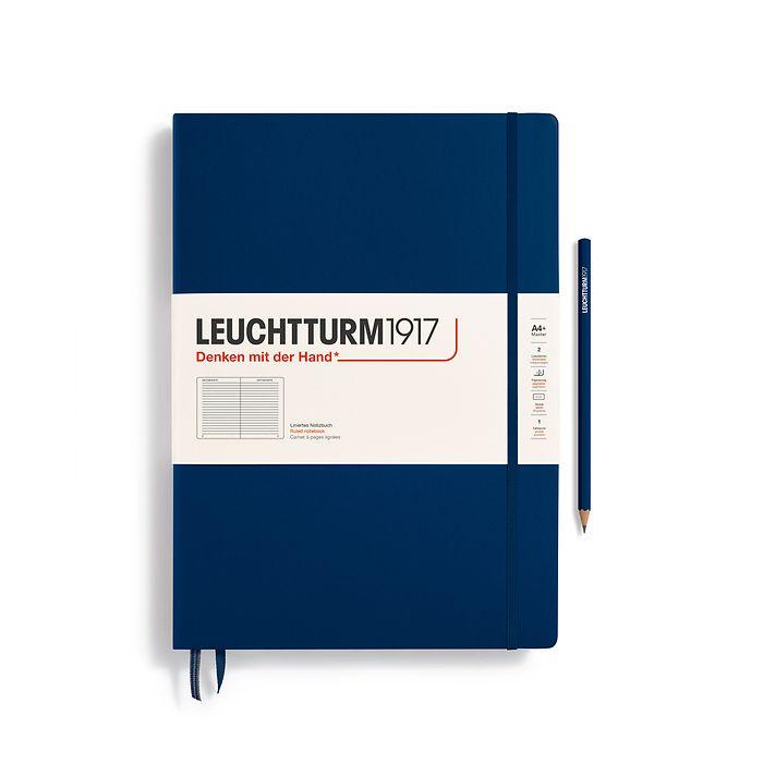 Notizbuch Master Classic (A4+), Hardcover, 233 nummerierte Seiten, Marine, Liniert