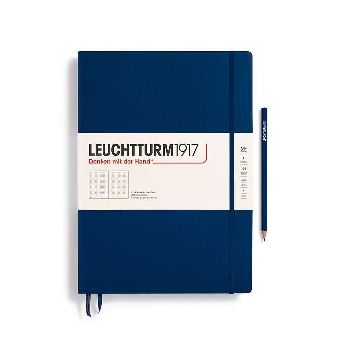 Notizbuch Master Classic (A4+), Hardcover, 233 nummerierte Seiten, Marine, Dotted