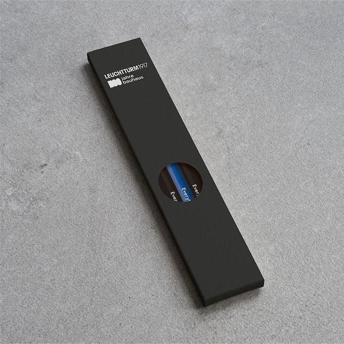 Bleistift HB, LEUCHTTURM1917,  sortiert, 100 Jahre Bauhaus:  4x Schwarz, 1x Königsblau