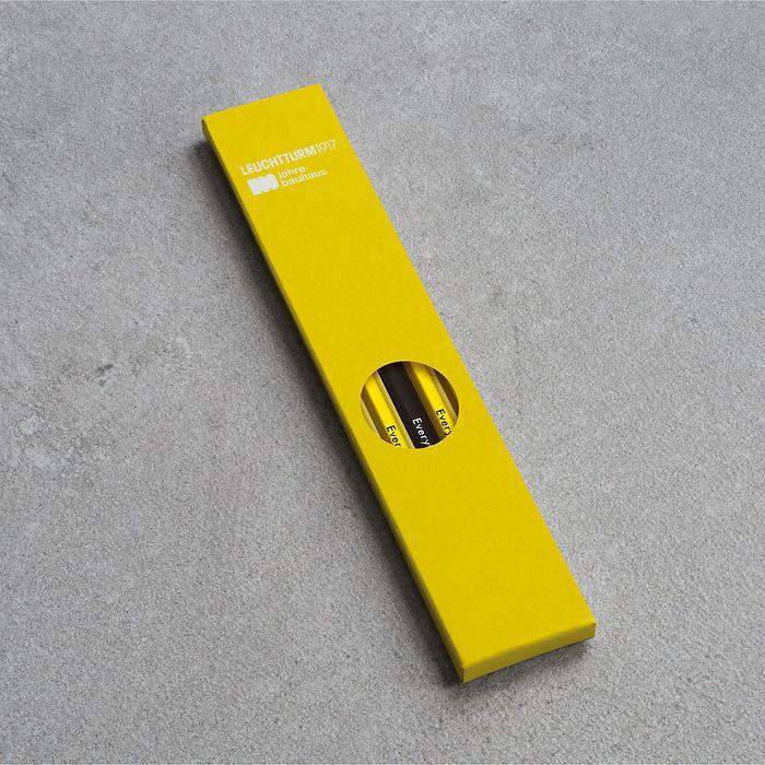 Bleistift HB, LEUCHTTURM1917,  sortiert, 100 Jahre Bauhaus:  4x Zitrone, 1x Schwarz