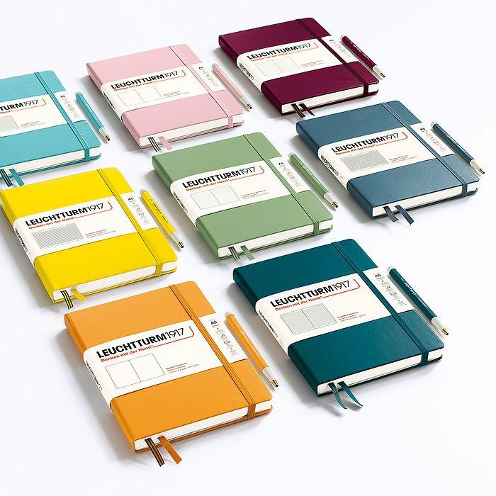 Notizbuch Medium (A5), Softcover, 123 nummerierte Seiten, Denim, Dotted