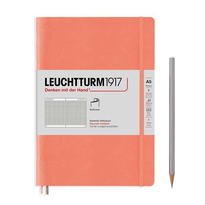 Notizbuch Medium (A5), Softcover, 123 nummerierte Seiten, Bellini, Kariert
