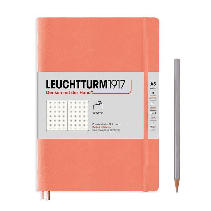 Notizbuch Medium (A5), Softcover, 123 nummerierte Seiten, Bellini, Dotted