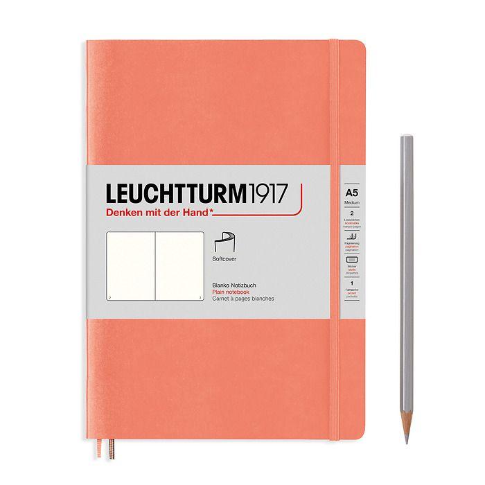 Notizbuch Medium (A5), Softcover, 123 nummerierte Seiten, Bellini, Blanko