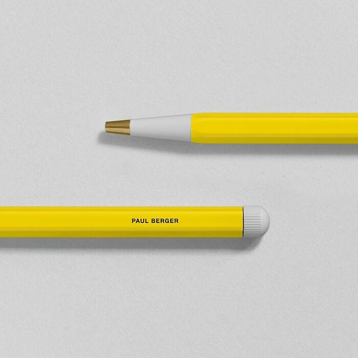 Drehgriffel Nr. 1, Zitrone - Kugelschreiber mit blauer Mine