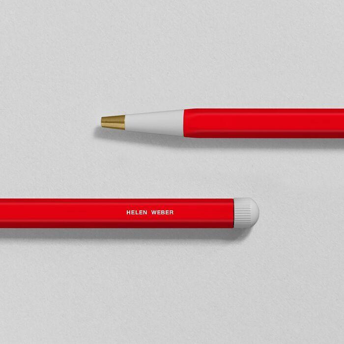 Drehgriffel Nr. 1, Rot - Kugelschreiber mit blauer Mine