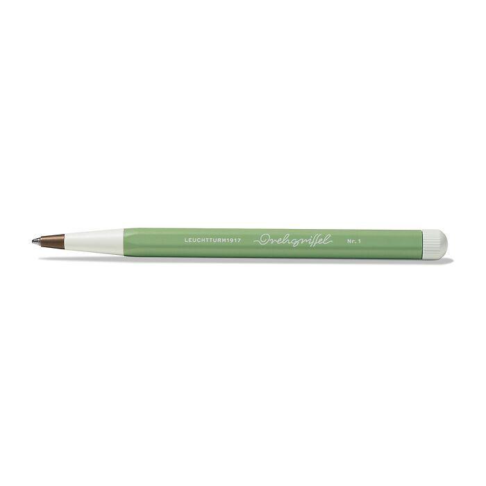 Drehgriffel Nr. 1, Salbei - Kugelschreiber mit blauer Mine