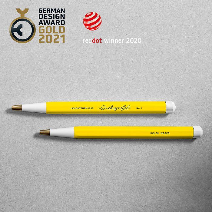 Drehgriffel Nr. 1, Denim - Kugelschreiber mit blauer Mine