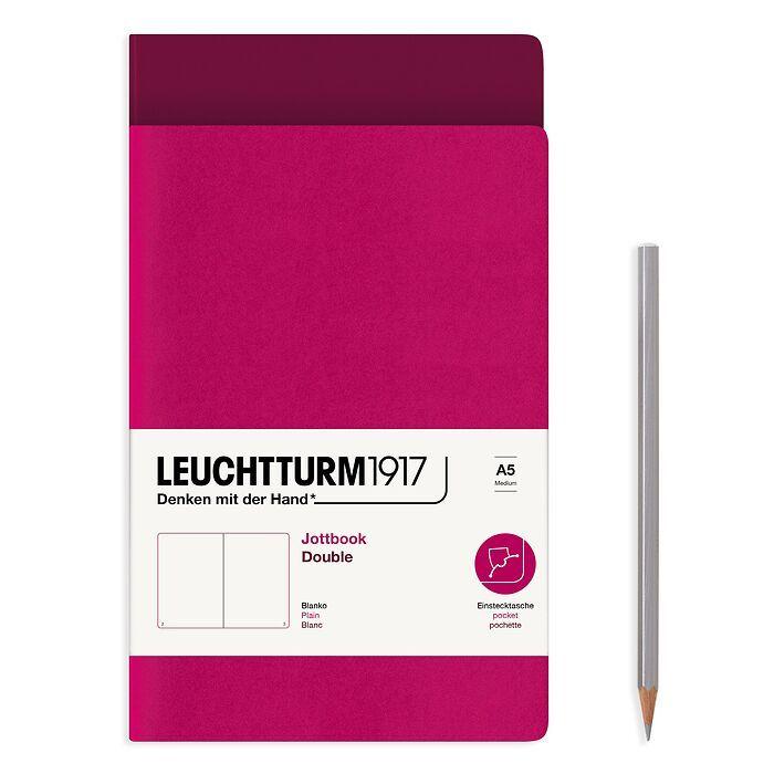 Jottbook (A5), 59 nummerierte Seiten, Blanko, Port Red und Beere, im Doppelpack