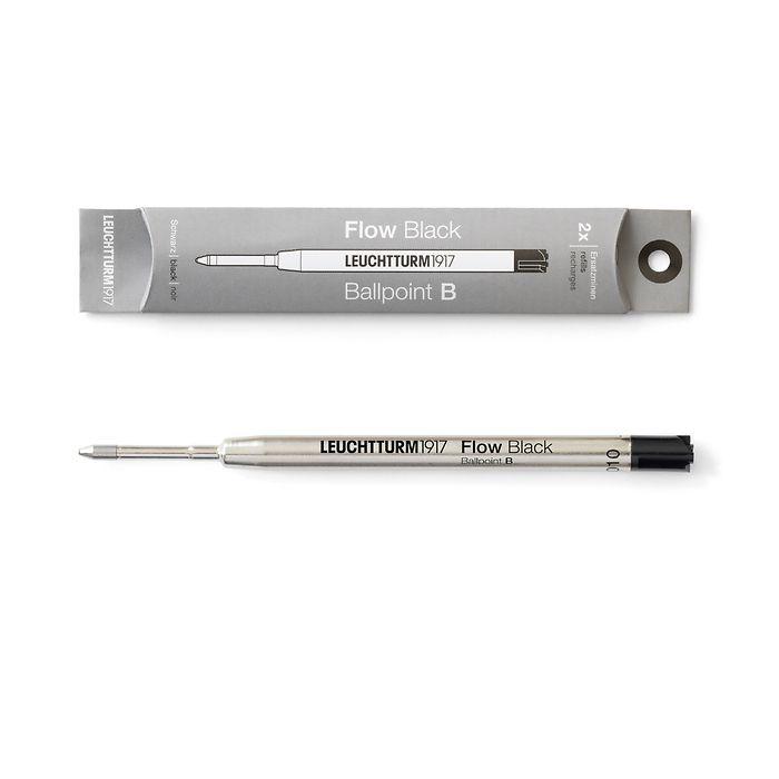 Ersatzmine B für Drehgriffel Nr. 1, Schwarz, 2er-Pack - Kugelschreiber
