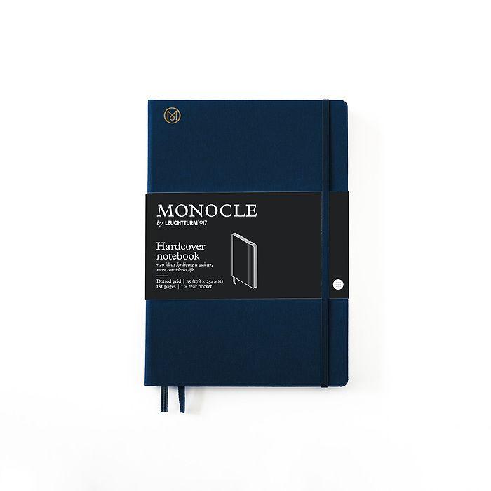 Notizbuch B5 Monocle, Hardcover, 192 nummerierte Seiten, Navy, dotted