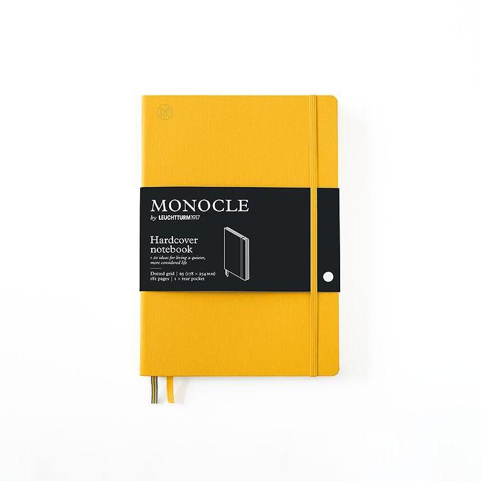 Notizbuch B5 Monocle, Hardcover, 192 nummerierte Seiten, Yellow, dotted
