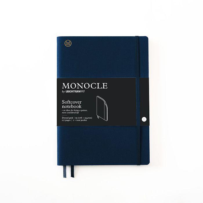 Notizbuch B5 Monocle, Softcover, 128 nummerierte Seiten, Navy, dotted