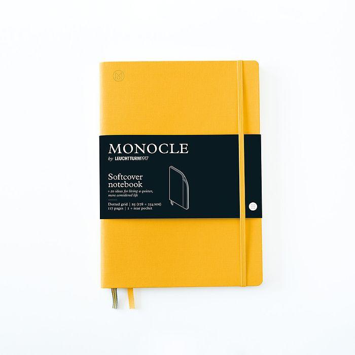 Notizbuch B5 Monocle, Softcover, 128 nummerierte Seiten, Yellow, dotted